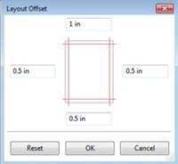 Layout offset Impose