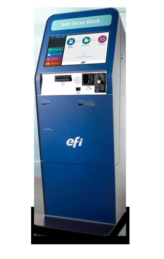 Efi G5 Card Vending Kiosk Overview