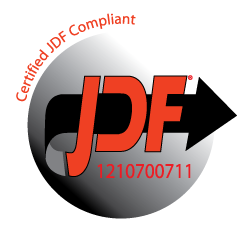 Logo certificazione JDF Integrazione Fiery