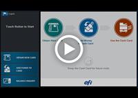 Presentazione screenshot delle schermate di G5 Kiosk - Pulsante Play - Nuova schedacarta