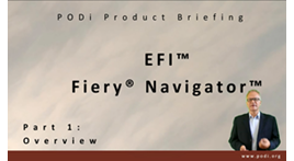Fiery Navigator PODi 브리핑 축소 그림