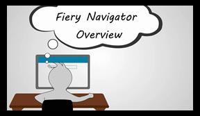 Значок микрообучения «Обзор Fiery Navigator»