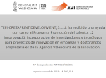Local government supporting R+D activities of EFI Cretaprint